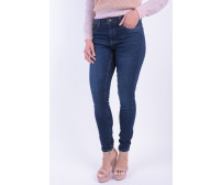 Blugi Dama Pieces Pcfive Betty Dnm V101 Mw Skn Jn Db/Noos Dark Blue Denim