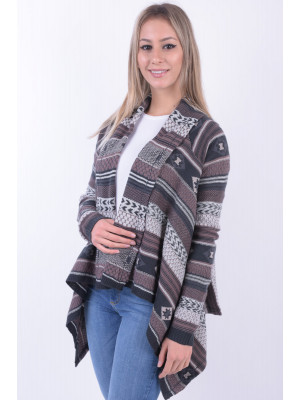 Cardigan Dama Eight2Nine D9018Z90418Den Dark Grey