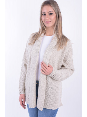 Cardigan Dama Fresh Made D9003A90481A Light Beige
