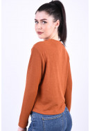 Bluza Dama Only Naja 3/4 Button Ginger Bread