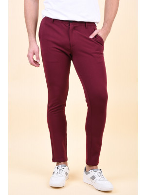 Pantaloni Barbati Selected Skinny-Fred Rhubard