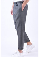 Pantaloni Barbati Selected Slimtapered-Joe Grey Melange