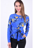 Bluza Dama Pieces Gail Tie Victoria Blue/Flowers