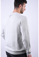 Pulover Barbati Produkt Brick Crew Neck White Melange
