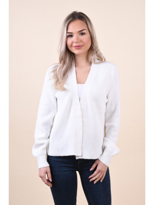 Cardigan Dama Vila Ril Open Short White Alyssum