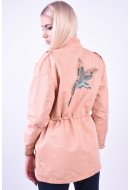 Geaca Dama Noisy May Nmlex L/s Jacket -with Bird Dusty Coral / With Bird