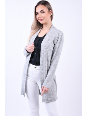 Cardigan Dama Pieces Mila Light Grey Melange