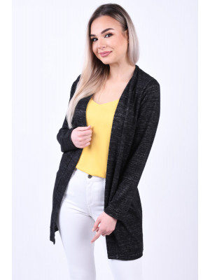 Cardigan Dama Pieces Mila Dark Grey Melange