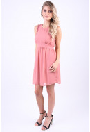 Rochie Dama Vero Moda Vmluna Sl Short Dress Old Rose