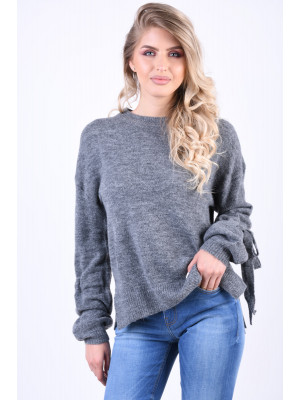 Pulover Dama Vero Moda Hersei Ginger Medium Grey Melange