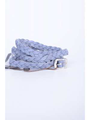 Curea Dama Pieces Papina Suede Jeans Belt Light Pewter Blue