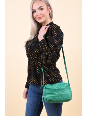 Poseta Piele Pieces Edja Pepper Green