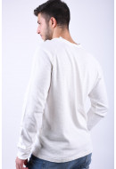 Pulover Barbati Only&Sons Meck Raglan O-Neck Cloud Dancer