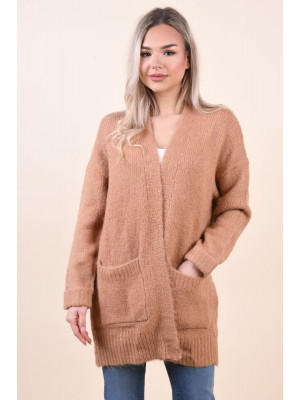Cardigan Dama Selected Regina Camel