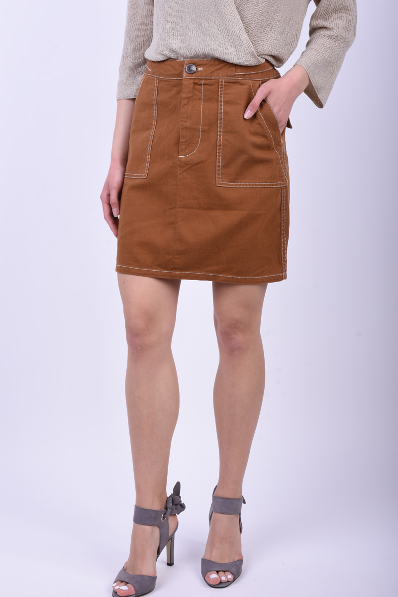 Fusta Only Onlcelia Hw Bronze Brown