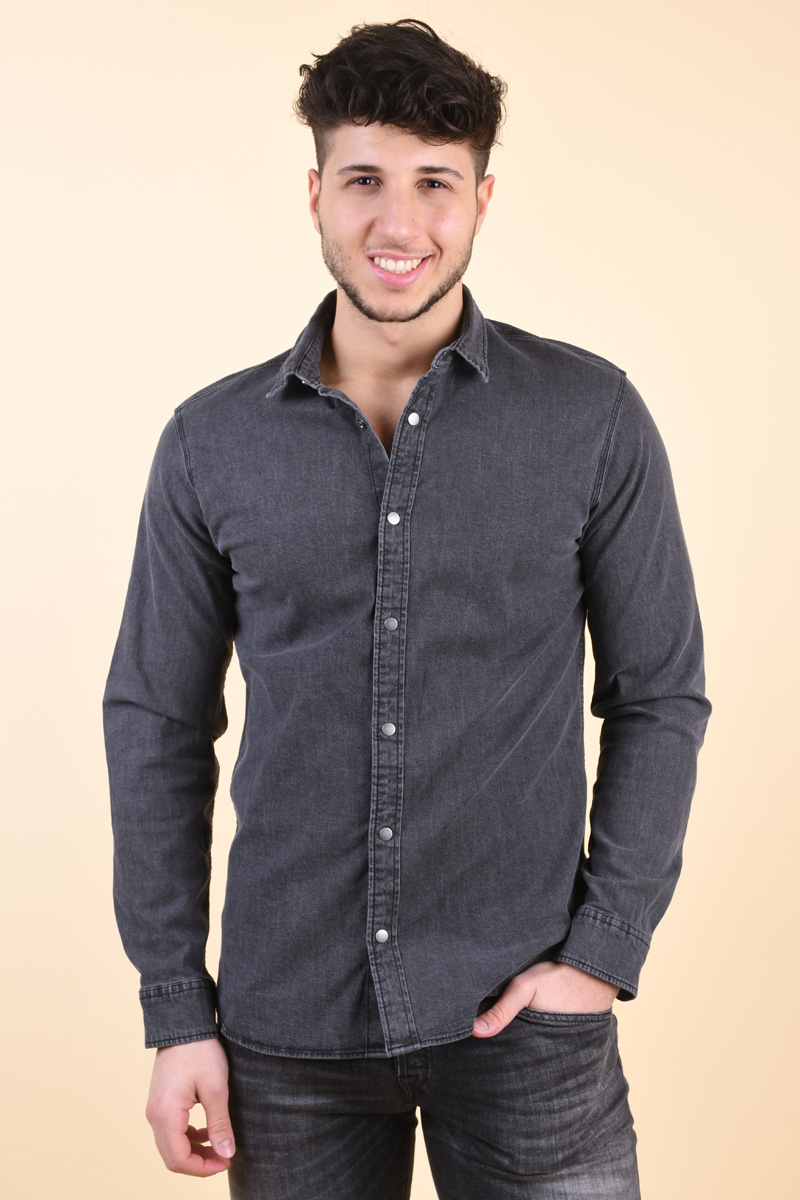 Camasa Barbati Jack&Jones Faro Grey Denim