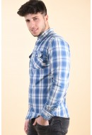Camasa Barbati Jack&Jones Nik Light Blue Denim