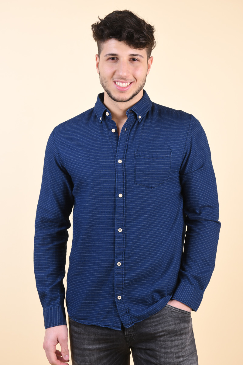 Camasa Barbati Jack&Jones Byron Dark Blue Denim