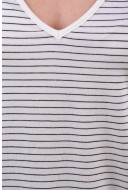 Maieu Dama Vero Moda Ava V-Neck Snow White Stripes Black