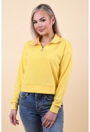Bluza Dama Pieces Kalina Zip Lemon Drop