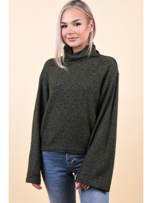 Pulover Dama Pieces Honey Rollneck Forest Night