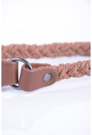 Curea Dama Pieces Villa Slim Waist Belt Cognac
