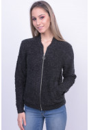 Cardigan Dama Pieces Pcfair Wool Dark Grey Melange