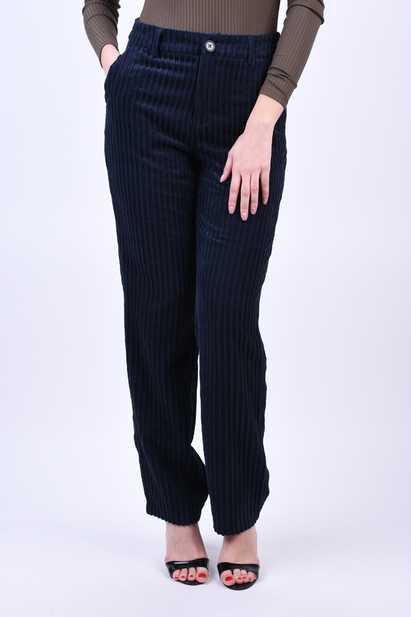 Pantaloni Dama Only Bounce Hw Straight Cord Night Sky