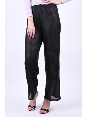 Pantaloni Dama Pieces Jay Mw Wide Black