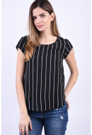 Bluza Dama Only Vic Leo Black/W Cloud Dancer