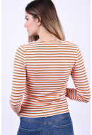 Bluza Dama Only Naria 3/4 Glitter Fiery Coral Stripes