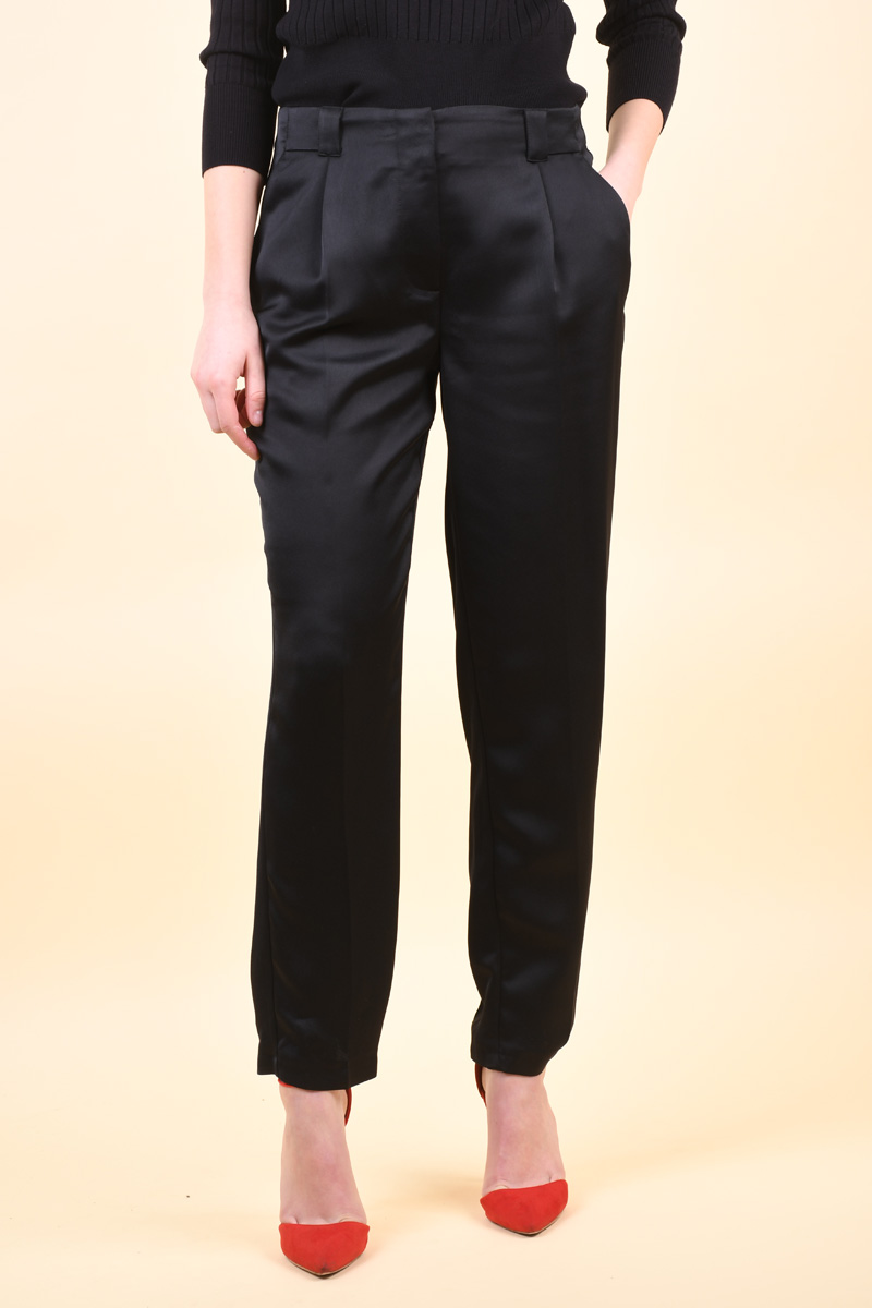 Pantaloni Dama Pieces Ippi Mw Cropped Black