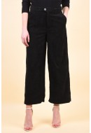 Pantaloni Dama Only Elvira Hw Wide Cord Cropped Black