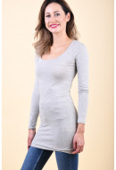 Bluza Dama Vila Officiel Long Light Grey Melange