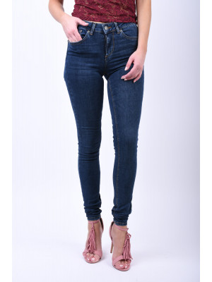 Blugi Dama Vero Moda Lux Nw Super Slim Ba033 Dark Blue Denim