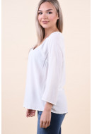 Bluza Dama Vila Moashly Lace 3/4 Whisper White