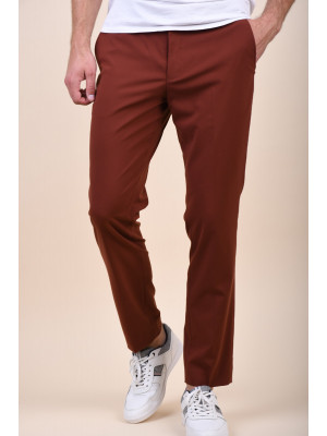 Pantaloni Barbati Selected Slim-Mylogan Smoked Paprika