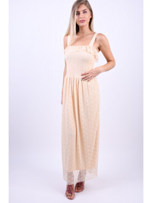 Rochie Dama Vero Moda Vmarora S/l Maxi Dress Mother Of Pearl