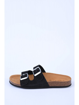 Slapi Dama Pieces Liina Suede Black
