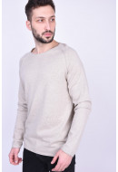 Pulover Barbati Jack&Jones Jjeunion Knit Crew Neck Oatmeal