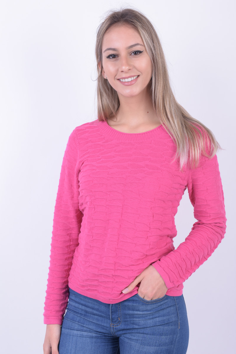 Women Sweater Signature 6499 Magenta