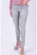 Women Jeans Noisy May Nmeve Lw Superslim Biker Jeans Light Grey Denim