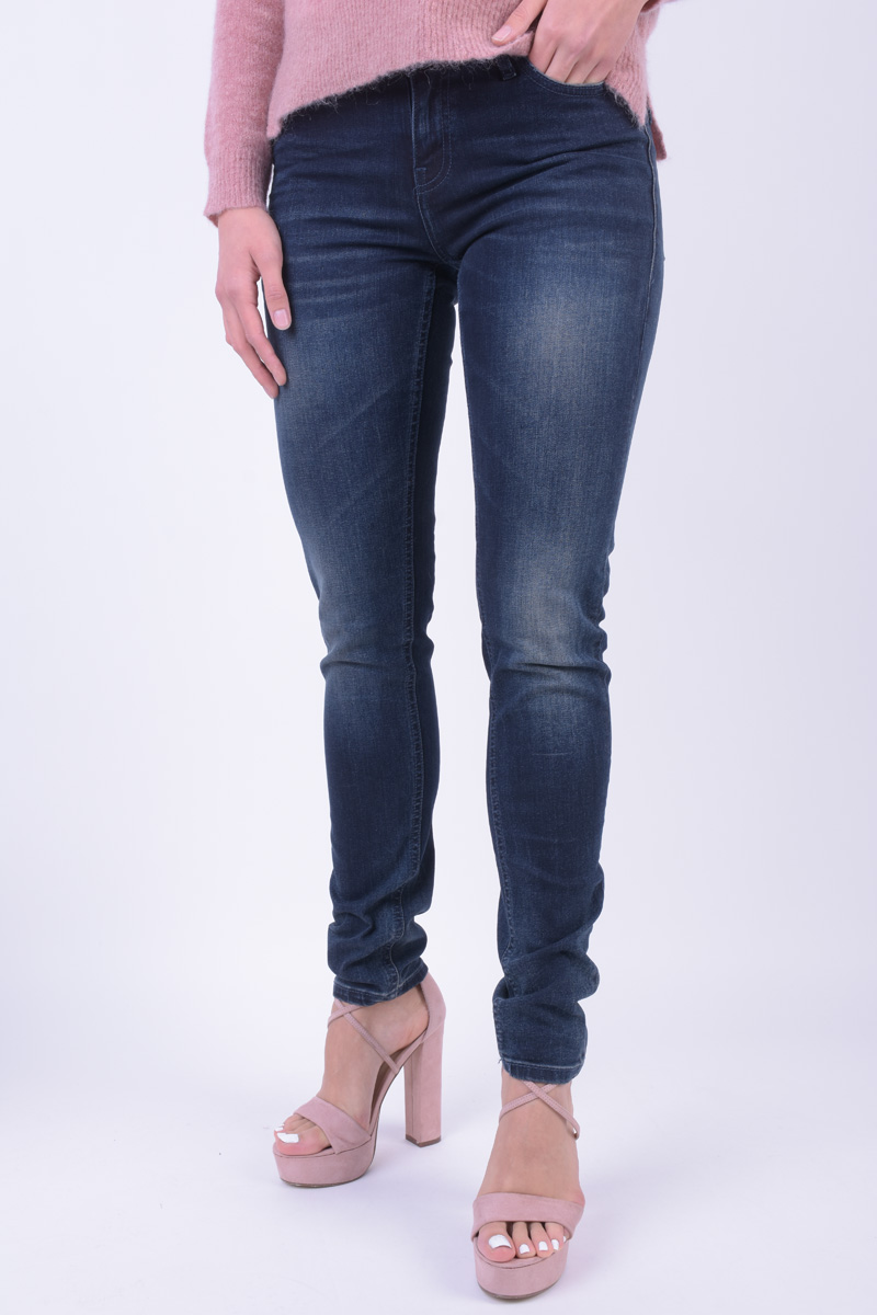 Blugi Dama Denim Hunter Ciss Slim Custom 730135 Dark Blue Denim