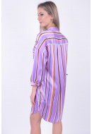 Rochie Dama Pieces Pcnala 3/4 Shirt Dress Hyacinth/Striped