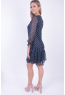 Rochie Dama Pieces Pcmalone 3/4 Dress Ff Maritime Blue