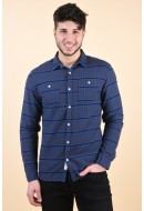 Camasa Barbati Jack&Jones John Check Shirt Blue
