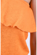 Bluza Dama Only Sofie One Shoulder Sun Orange