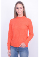 Pulover Dama Pieces Pcjane Wool Knit Orange
