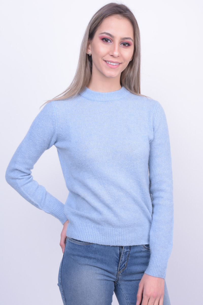 Pulover Dama Pieces Pcjane Wool Knit Dusty Blue