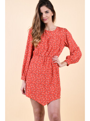 Rochie Only Marina Puff Sleeve Flame Scarlet